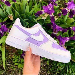 ⚡️Custom Nike Air Force 1 Shoes (Lilac)⚡️